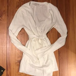 Tie front wrap sweater